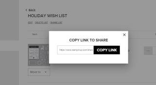 Share list link